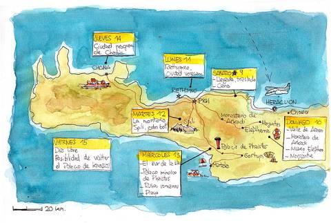 Itinéraire séjour carnet de voyage en Crète