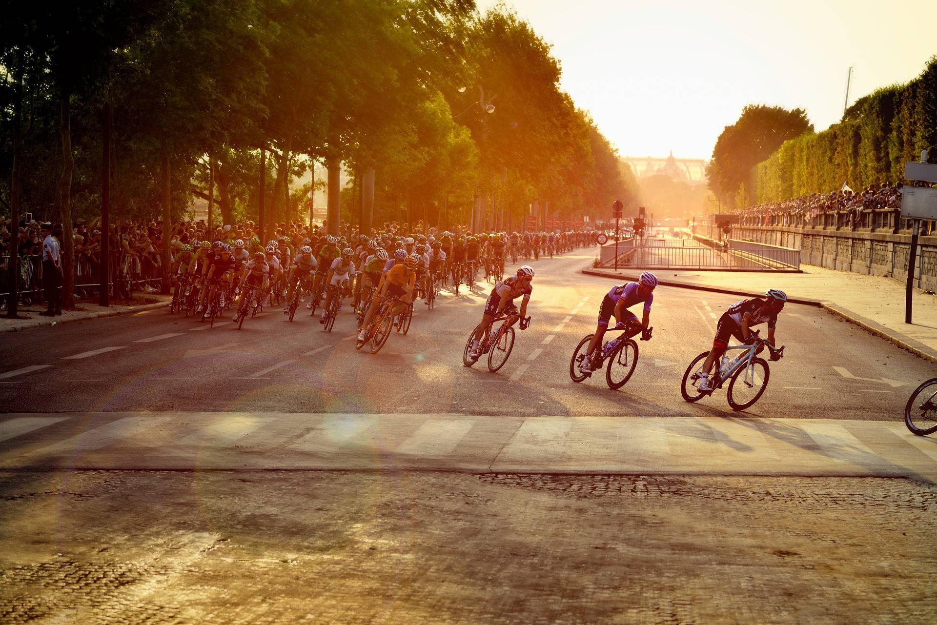 Cyclistes du Tour de France à Paris