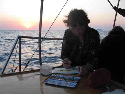 Carnet de voyage en Crète : séjour peinture et dessin