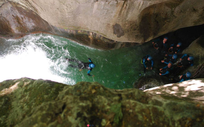 canyoning bachelorette party weekend