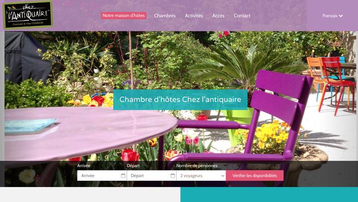 Site Web Chambre d'hôtes Chez l'antiquaire