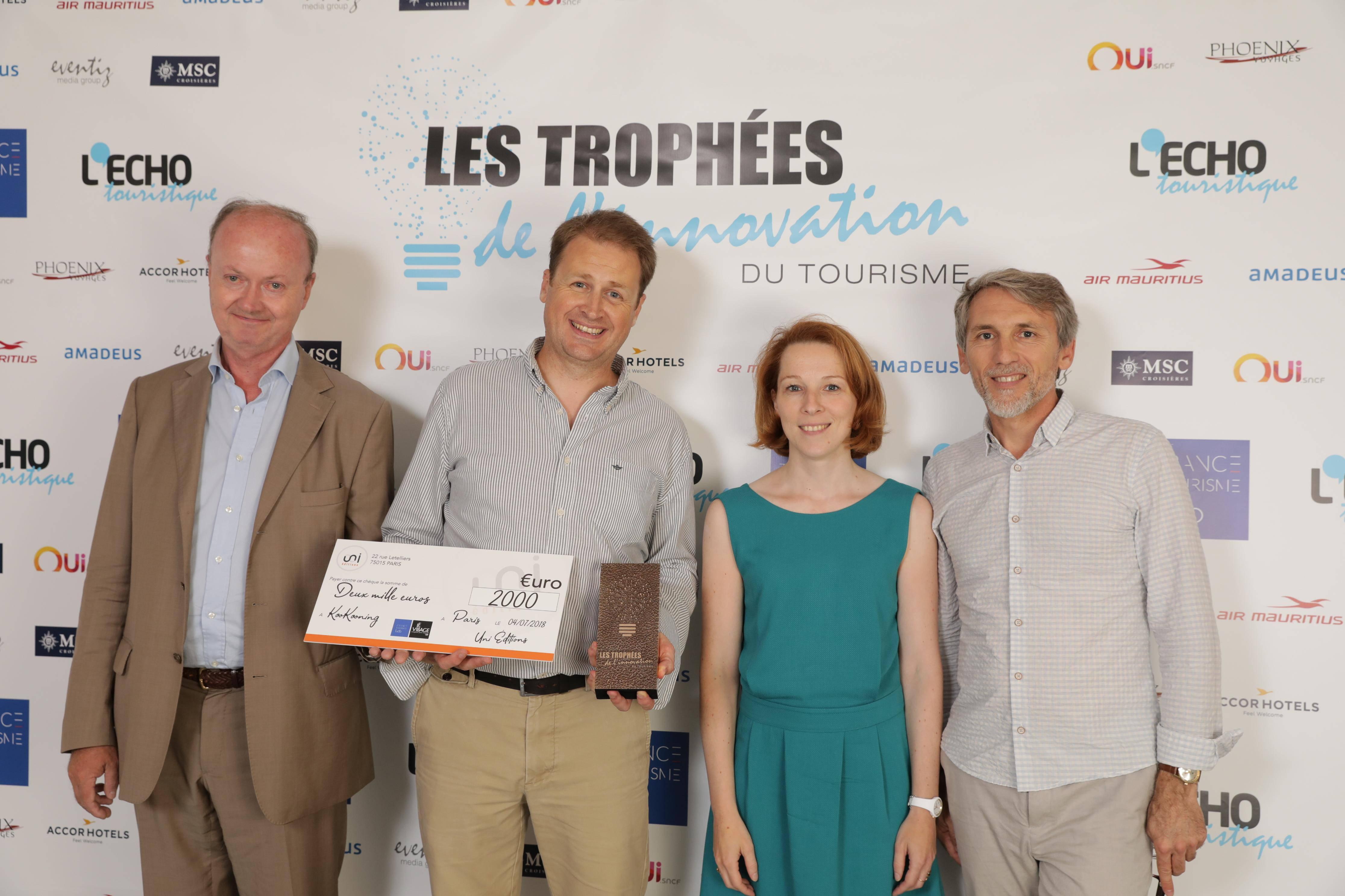 Trophee Innovation Touristique KooKooning Mise en Orbite