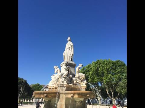 Pradier fountain Nimes