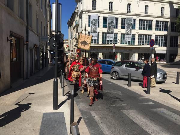défilé légionnaires romains