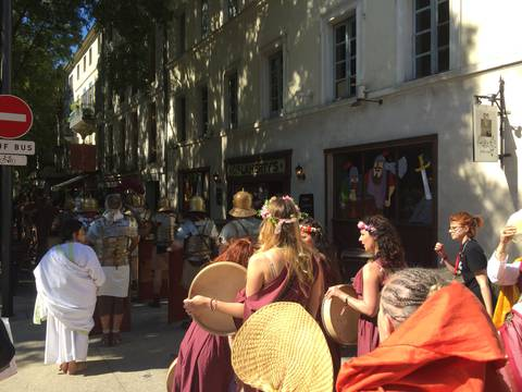 Roman dancers in Nimes