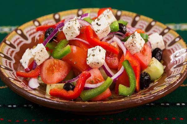 Greek salad tasting