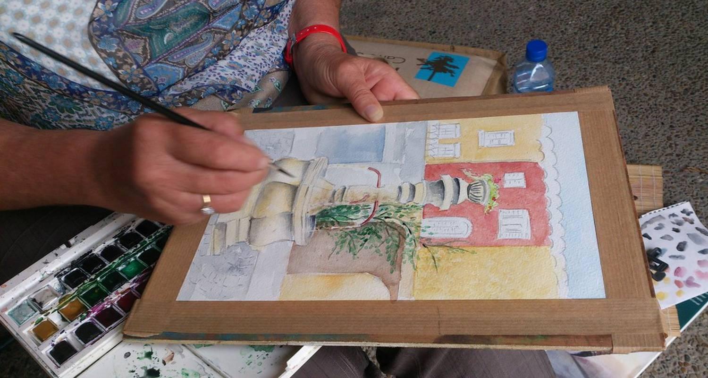 Croquis d'une maison provençale typique