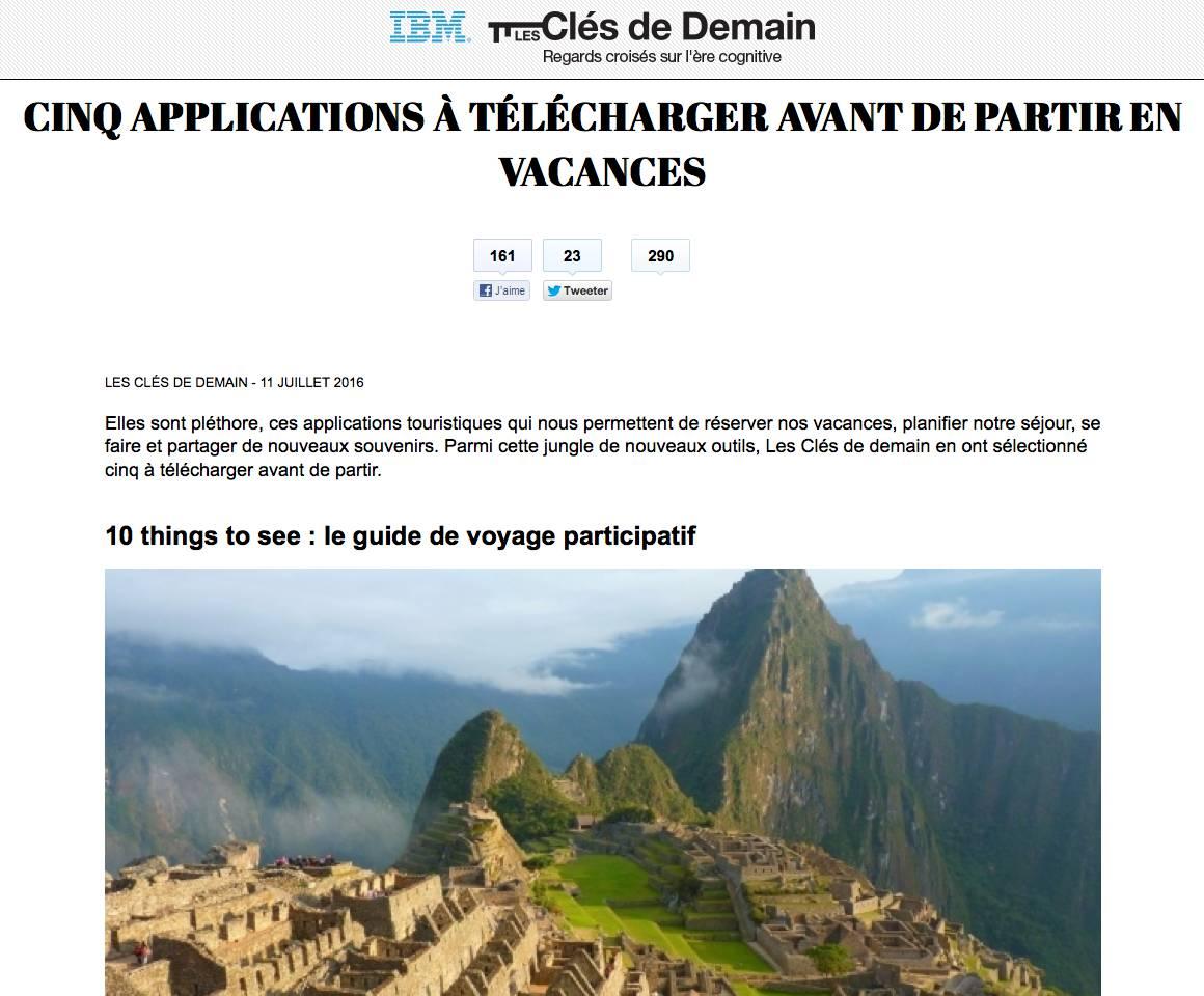 LeMonde article for Summer App 10ThingsToSee