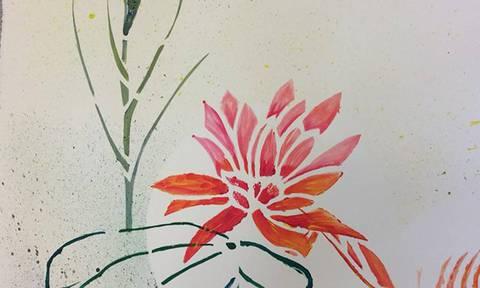 Fleurs en Katagami