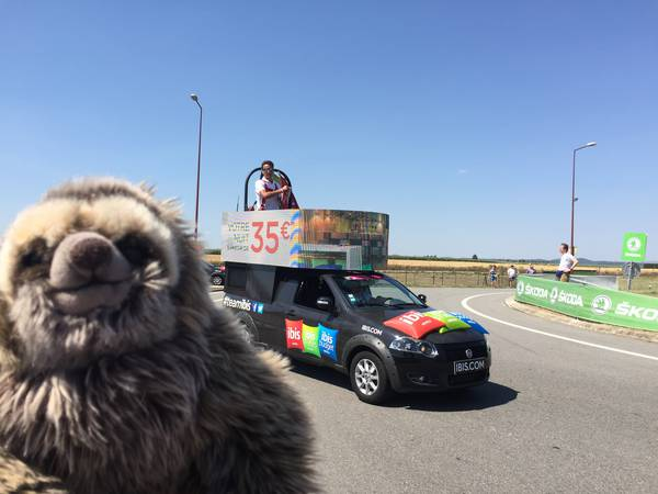 Pedro and Tour 2017 caravan