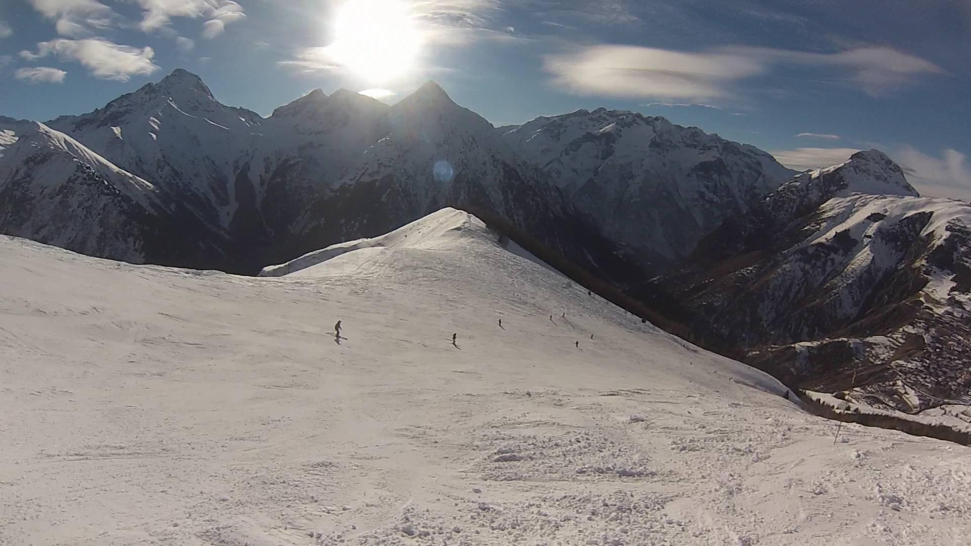 Les deux alpes depuis les pistes