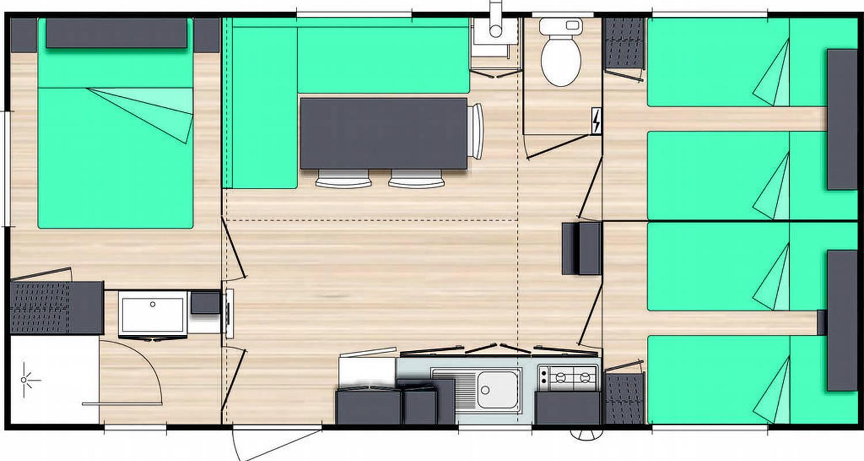 Casa rurale: mobil-home 32m2 en souillac (101039)