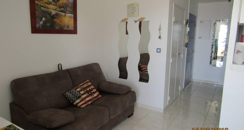 Logement meublé: studio cabine vue mer en front de mer à canet-en-roussillon (124303)