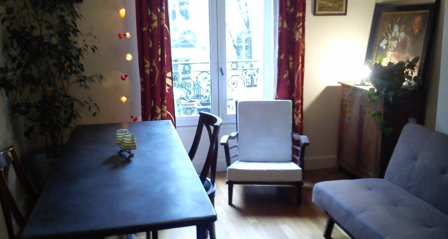 Furnished accommodation: haut belleville in paris 20 ménilmontant (115734)