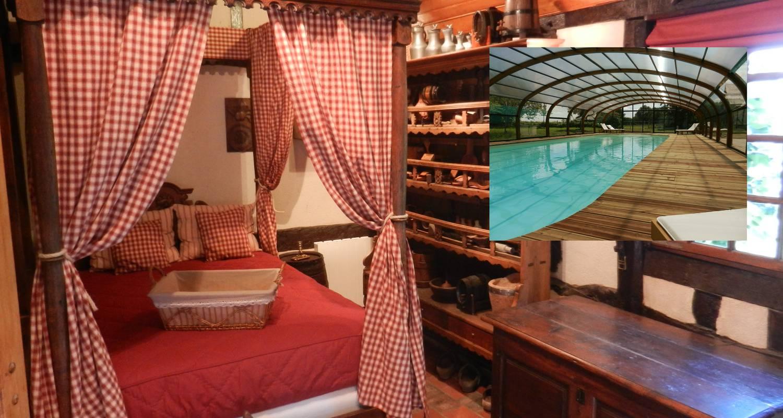 le g te des 3 vaches chemin e piscine et jacuzzi calleville 27993. Black Bedroom Furniture Sets. Home Design Ideas