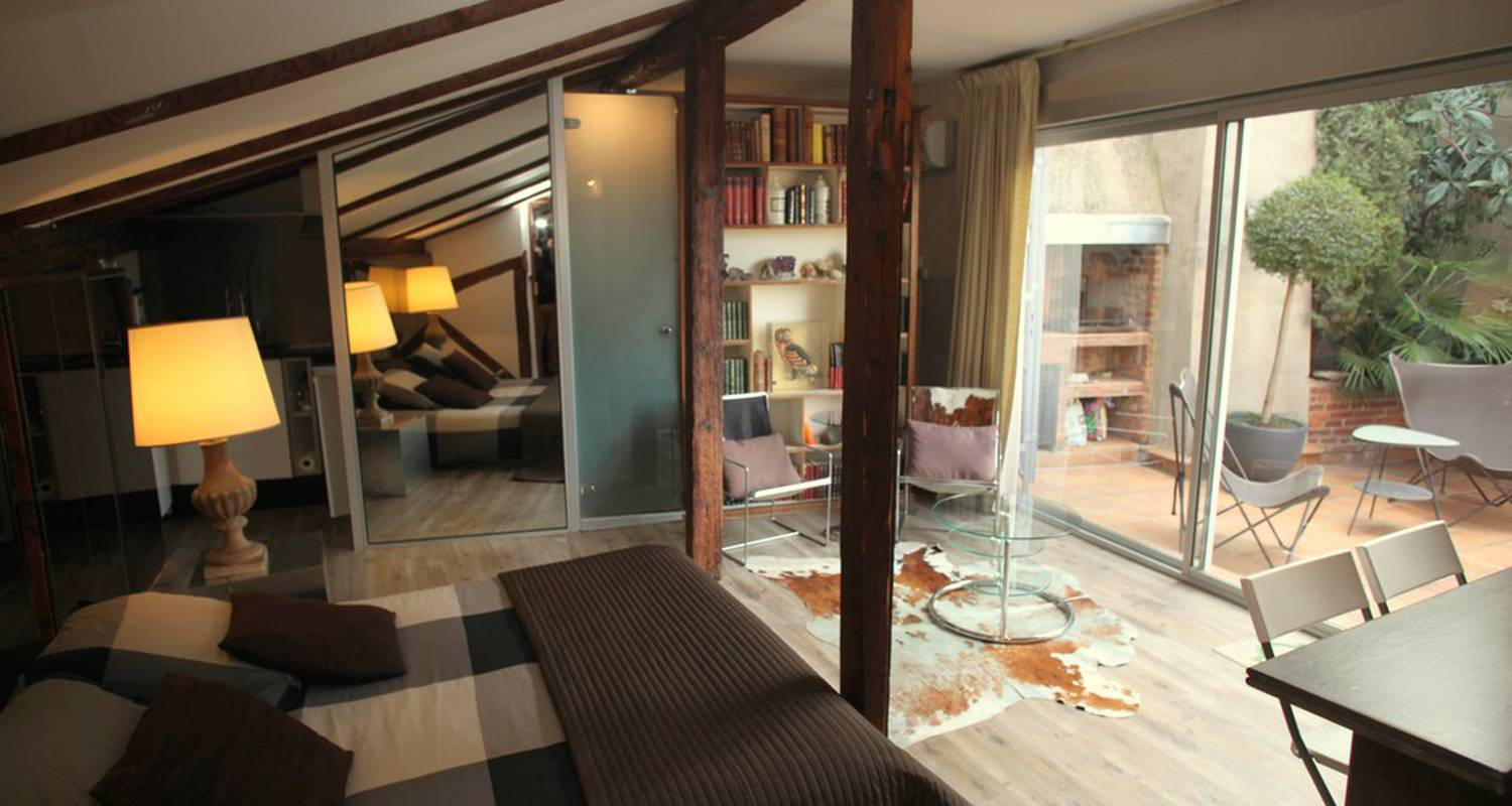 Furnished accommodation: studio avec terrasse  in toulouse (119136)