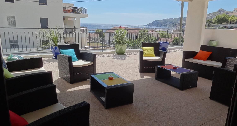Furnished accommodation: les terrasses de la mer in marseille 16 (121449)