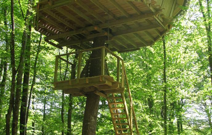 Cabane à escalier de la Belle