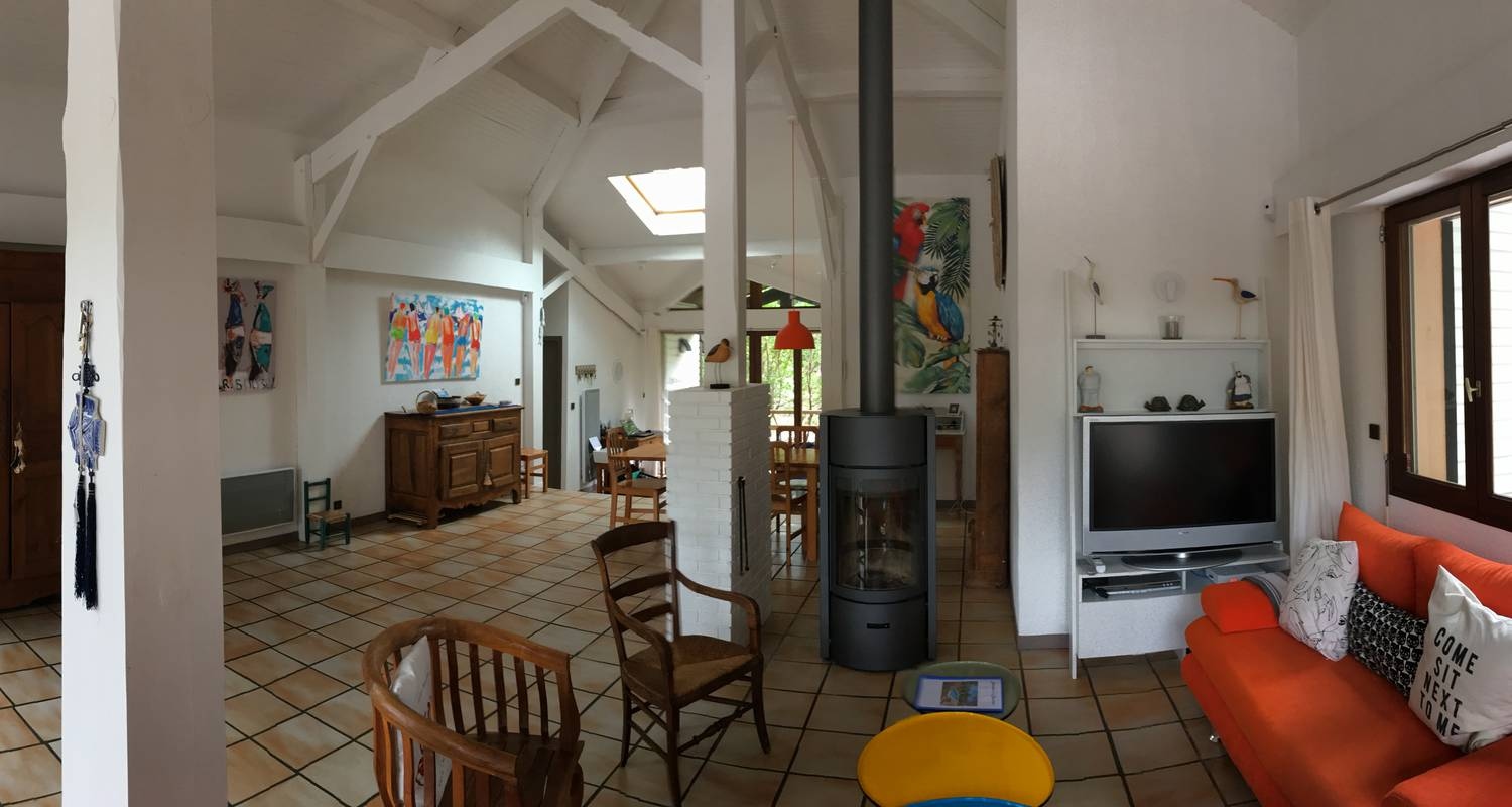 Furnished accommodation: charming house with pool under the pines in biscarrosse-plage (123207)