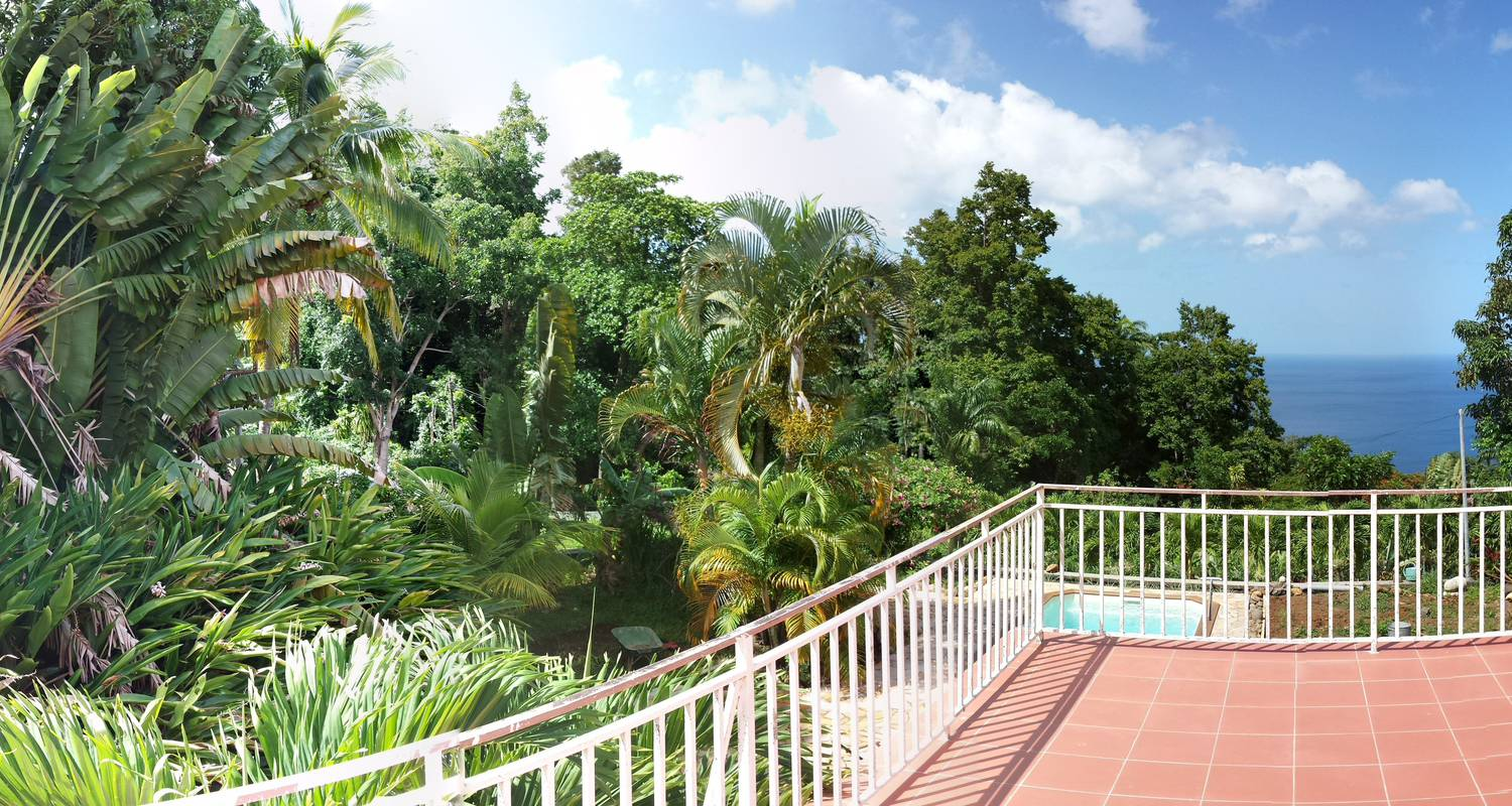Furnished accommodation: domaine du piton bellevue - pitaya studio with sea view, swimming pool and spa access in pointe-noire (124070)