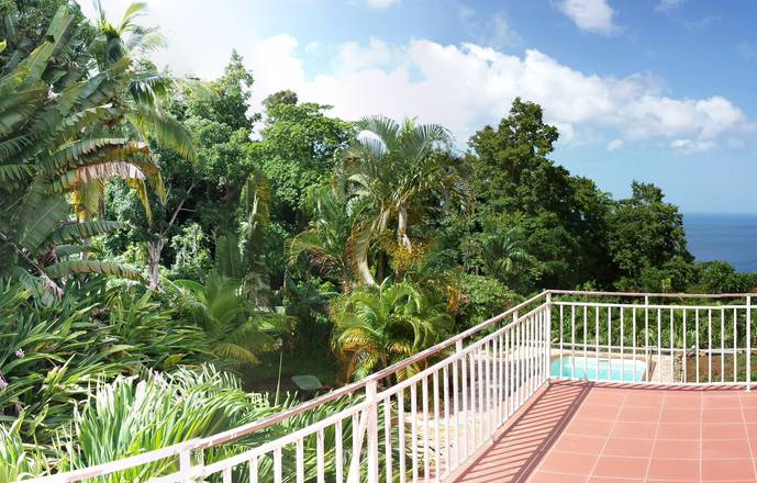 DOMAINE DU PITON BELLEVUE - Pitaya studio with sea view, swimming pool and spa access