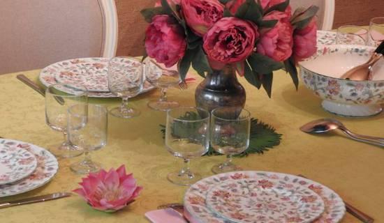 Table d'hôtes - pour le plaisir de découvrir une cuisine familiale - sur réservation.