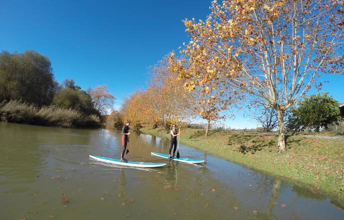 balade riviere en stand up paddle