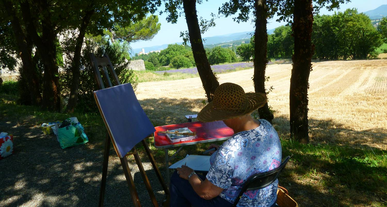 Activité: stage de peinture paysage dans la drome  à salettes (125546)
