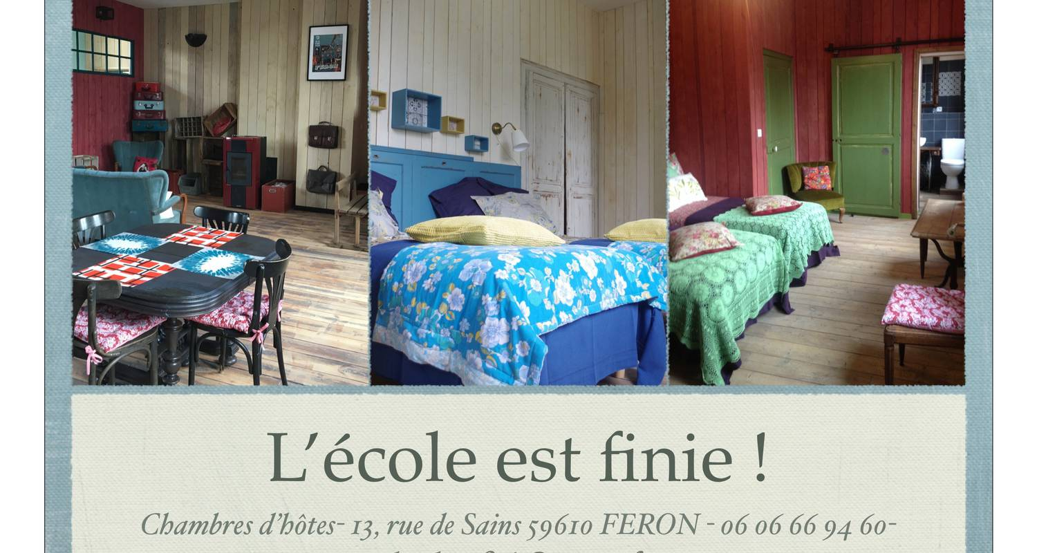 Bed & breakfast: l'école est finie ! in féron (126037)