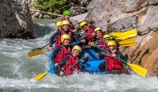 Verdon white water rafting picture