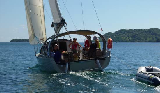 Les îlets du Robert à la voile (bateau privatisé)