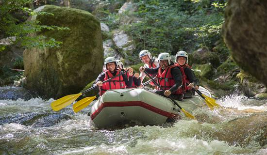 Rafting, kayak, nage en eaux vives, paddle picture