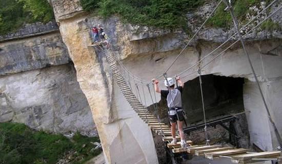 Parcours aventure sur rocher