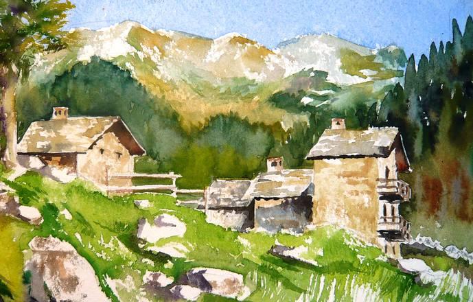 Stage croquis et aquarelle en vallée d'Aoste