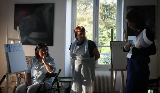 atelier de peinture à l'huile et dessin