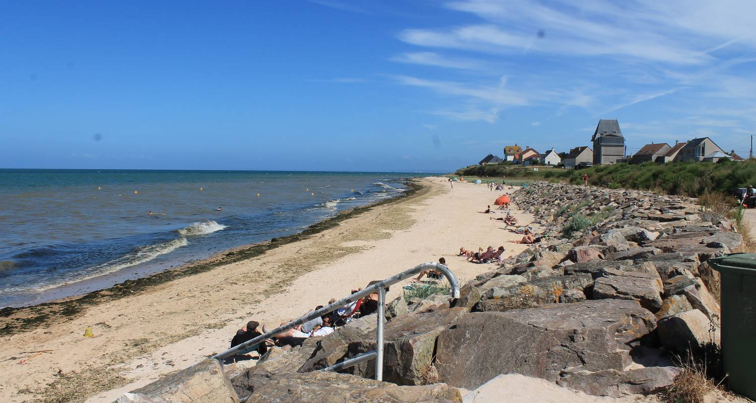Hotel residence: sunny cosy duplex flat direct juno beach access in bernières-sur-mer (129124)
