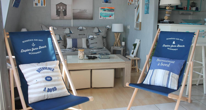 Residencia hotelera: duplex de permanente juno beach acceso directo en bernières-sur-mer (129142)