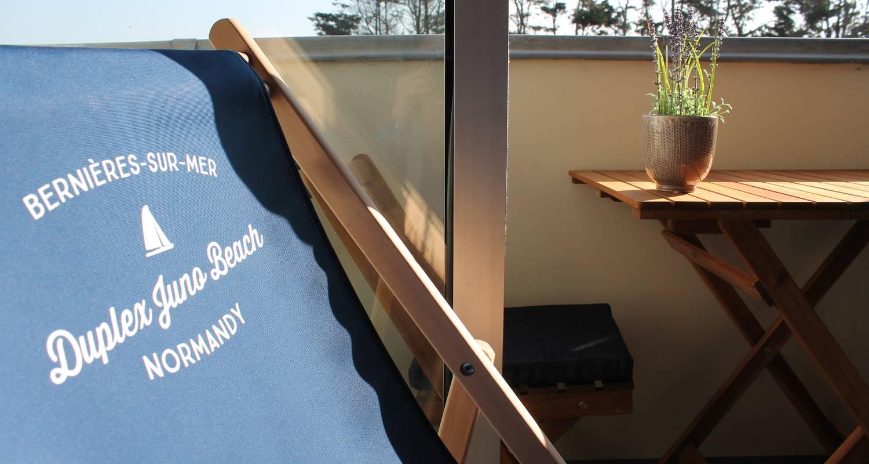 Residencia hotelera: duplex de permanente juno beach acceso directo en bernières-sur-mer (129144)