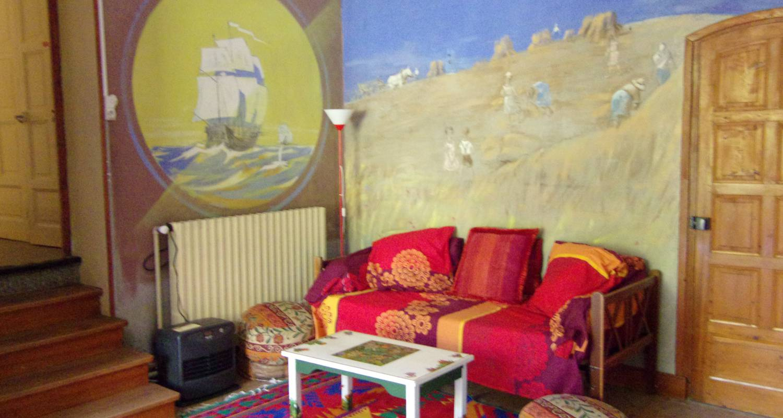 """Chambre chez l'habitant: """"chez toine"""" maison & atelier d'artiste, chambre 1 """"les petits goulets"""" à saint-martin-en-vercors (129645)"""