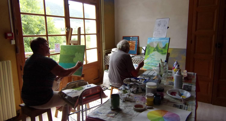 """Chambre chez l'habitant: """"chez toine"""" maison & atelier d'artiste, chambre 1 """"les petits goulets"""" à saint-martin-en-vercors (129652)"""