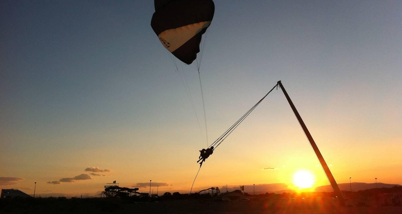 Activité: kitesurf, bouée tractée, sky fly, paddle, flyboard à port leucate (129893)
