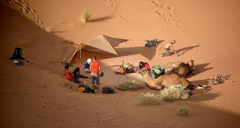 """Activité: trek découverte initiation à la survie au maroc """"oasis&dunes"""" en oum el gourdane (130036)"""