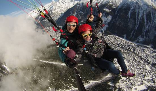 Vol en parapente  photo