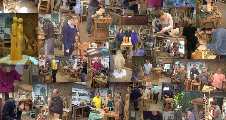 Activité: stage sculpture sur bois à jujurieux (130153)