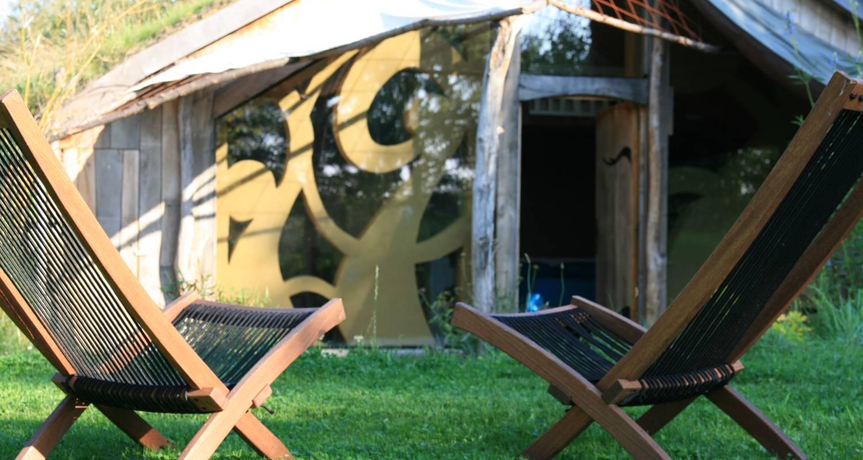 ecolodge la belle verte saint m 39 herv 30253. Black Bedroom Furniture Sets. Home Design Ideas