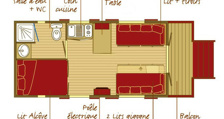 Gîte: roulottes et cabanes de saint cerice et spa  in vogüé (131968)