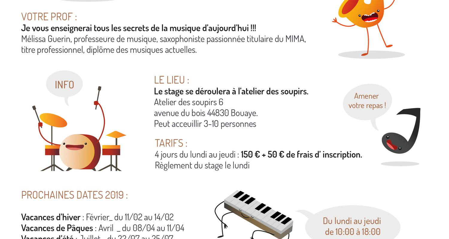 Activity: stage de musique actuelle, formation collective in bouaye (131895)