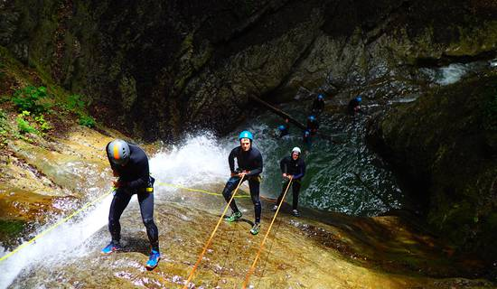 Canyoning sensation d'Angon foto